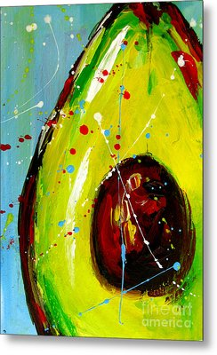 Crazy Avocado Metal Print