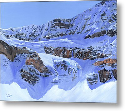 Crowfoot Glacier Metal Print by Glen Frear