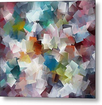 Crystal Cube Metal Print by Kathy Sheeran