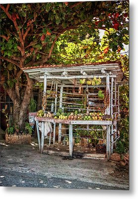Metal Print featuring the photograph Cuban Fruit Stand by Joan Carroll