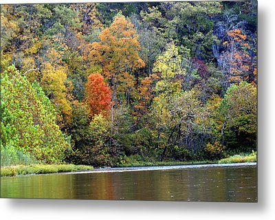 Current River Fall Metal Print by Marty Koch