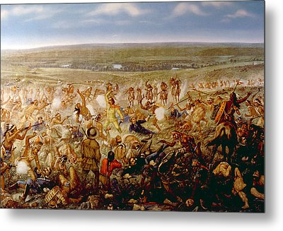 Custers Last Stand, General George Metal Print by Everett