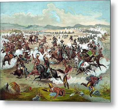 Metal Print featuring the painting Custer's Last Stand by War Is Hell Store