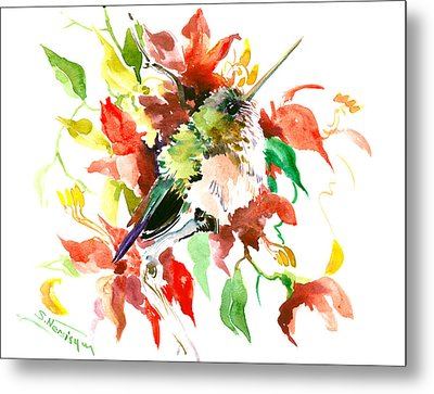 Cute Little Hummingbird Metal Print by Suren Nersisyan