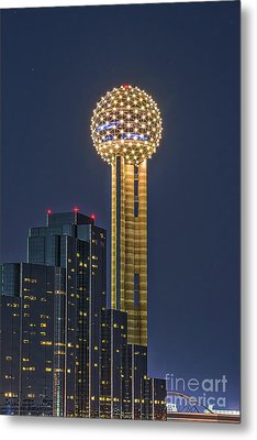 Dallas Reunion Tower Twilight Metal Print by Tod and Cynthia Grubbs