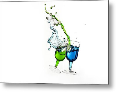 Dancing Drinks Metal Print