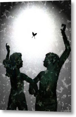 Metal Print featuring the digital art Dancing Silhouettes by Holly Ethan