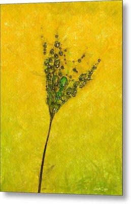 Dandelion Flower - Da Metal Print