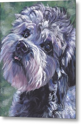Metal Print featuring the painting Dandie Dinmont Terrier by Lee Ann Shepard