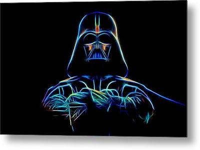 Metal Print featuring the digital art Darth Vader by Aaron Berg