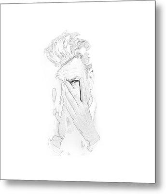 David Lynch Hands Metal Print by Yo Pedro