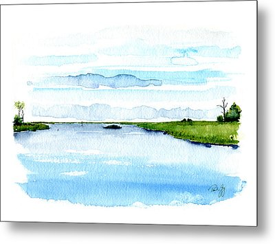 Davis Bayou Ocean Springs Mississippi Metal Print by Paul Gaj