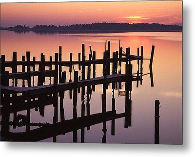 Dawn On The Bay Metal Print by Eric Foltz