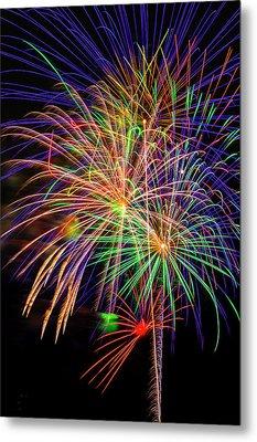 Dazzling Fireworks Metal Print