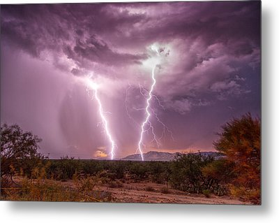 Metal Print featuring the photograph Desert Fire by James Menzies