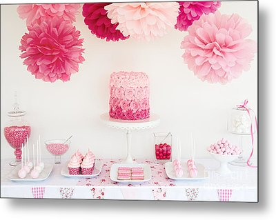 Dessert Table Metal Print by Ruth Black