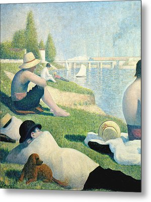 Detail From Bathers At Asnieres Metal Print by Georges Pierre Seurat