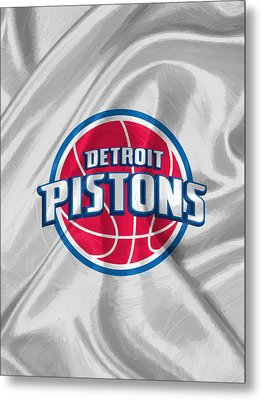Detroit Pistons Metal Print by Afterdarkness