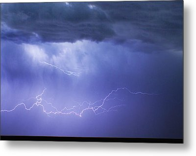 Dia Country Farm Field Lightning Striking 85 Metal Print by James BO  Insogna
