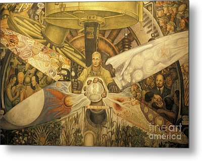 Diego Rivera Mural Mexico City Metal Print by John  Mitchell