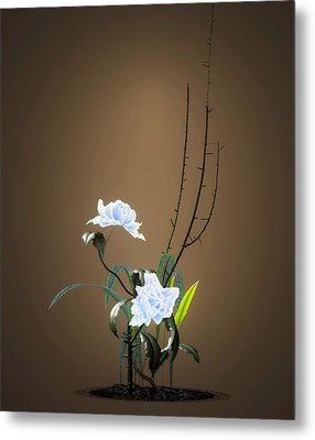 Digital Flower Arrangement Metal Print by GuoJun Pan