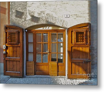 Door In Brisighella, Italy Metal Print