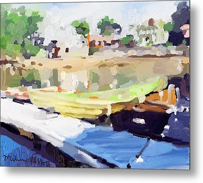 Dories At Beacon Marine Basin Metal Print by Melissa Abbott