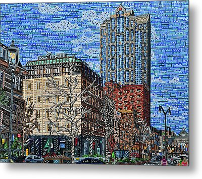 Downtown Raleigh - Fayetteville Street Metal Print by Micah Mullen