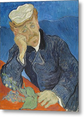 Dr Paul Gachet 1890 Metal Print by Vincent Van Gogh