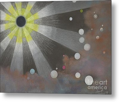Drawn To The Black Hole Metal Print by Janet Hinshaw