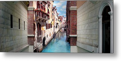 Dreaming Of Venice Panorama Metal Print by Az Jackson