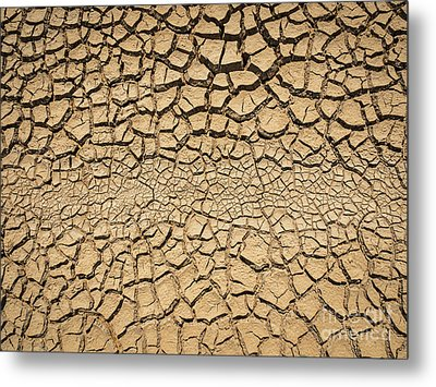 Dried And Cracked Soil In Arid Season. Metal Print by Tosporn Preede