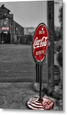 Drink Coca Cola Refresh Metal Print