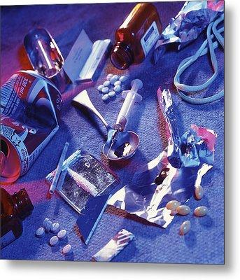 Drug Abuse Metal Print by Tek Image