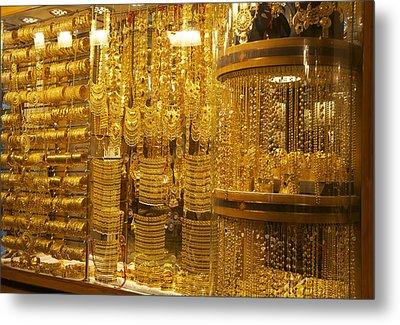 Dazzling Dubai Gold  Metal Print by Art Spectrum