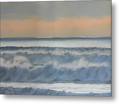 Dusk At High Tide Metal Print