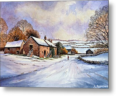 Early Morning Snow Metal Print by Andrew Read