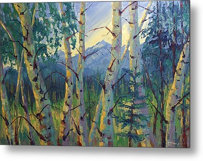 Metal Print featuring the painting Earth Light Series by Len Sodenkamp