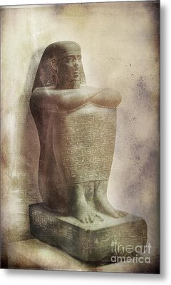 Egyptian Pharaoh. Metal Print by Mohamed Elkhamisy