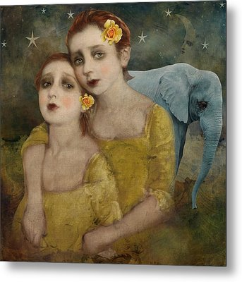 Elephant Dreamer Metal Print by Lisa Noneman
