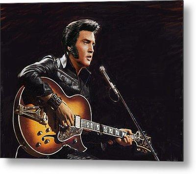 Elvis Presley Metal Print by Dominique Amendola