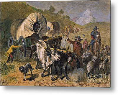 Emigrants To West, 19th C Metal Print by Granger
