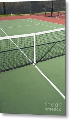 Empty Tennis Court Metal Print by Thom Gourley/Flatbread Images, LLC