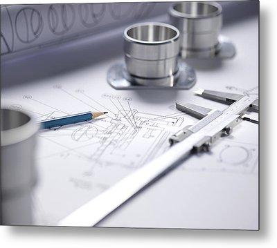 Engineering Equipment Metal Print by Tek Image
