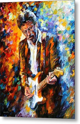 Eric Clapton Metal Print by Leonid Afremov