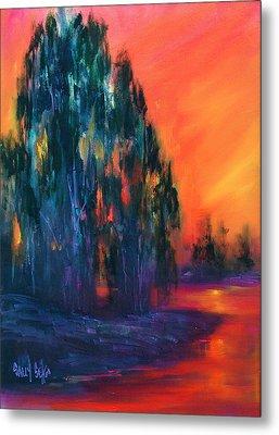 Eucalyptus Sunset Metal Print by Sally Seago