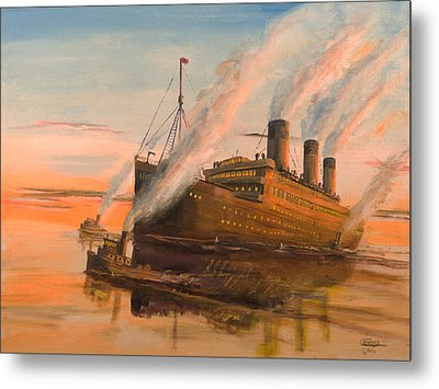 Evening Departure Metal Print by Christopher Jenkins