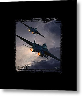 F-14 Flying Iron Metal Print