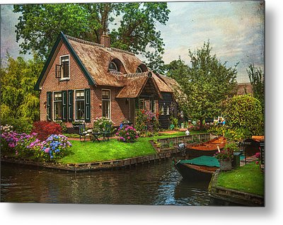 Fairytale House. Giethoorn. Venice Of The North Metal Print by Jenny Rainbow