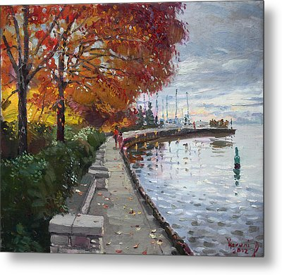 Fall In Port Credit On Metal Print by Ylli Haruni
